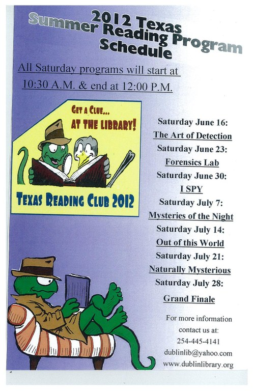 Summer Reading Flyers